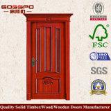 Luxuxentwurfs-festes Holz-Tür für Schlafzimmer (GSP2-047)