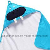 La coperta incappucciata stampata del bambino del cotone scherza la coperta (HR14KB008)