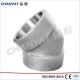 O aço inoxidável parafusou o cotovelo cabendo A182 de 45 graus (F348H, F321H, F20)