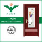 Portello di legno interno della melammina poco costosa di prezzi in Cina