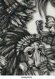 ベストセラー水転送の印刷のフィルムの頭骨パターンNo. S006qj063b
