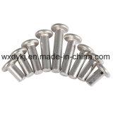 Rebite contínuo principal liso de alumínio do estanho