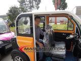 China maakte tot 4 Wielen 4 Seaters Elektrische Auto met de Waaier van 100km