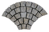 Fan Shaped Chinese Granite Walkway Cobble Pavers Grey Cubes Stone