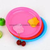 Piatto semplice creativo di colore della caramella del piatto circolare a gettare della bolla