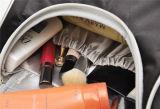 Buon sacchetto impermeabile eccellente di trucco del sacchetto della lavata del raso di qualità a strati
