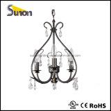 Dispositivo elétrico claro de teto do ferro feito do candelabro do UL mini