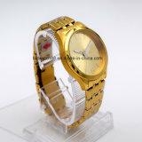 最もよい人および女性のための金によってめっきされるステンレス鋼のブレスレットの腕時計