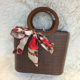 숙녀 원형 손잡이 Sh137를 가진 최신 최신유행 제품 여자 바닷가 Shoudler 부대를 위한 대중적인 여름 밀짚 핸드백