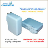 65W Laptop Smart Universal Adapter Wall Charger com carregamento rápido