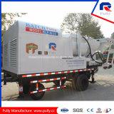 Bomba concreta montada caminhão com o misturador do Gêmeo-Eixo Js500