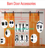 Puerta corredera Kit de adaptador de hardware para puertas de madera, tranquila, de la puerta de interior o exterior del hardware, Kit de puerta de la granja