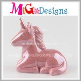 Alta calidad de cerámica Unicorn caja de dinero para los regalos