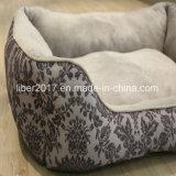 Base popular do sofá do cão de animal de estimação do projeto da impressão da flor da forma da casa do animal de estimação