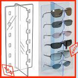 Contador de gafas de sol Gafas de madera de la pantalla stand para ferias