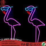 Sinal de néon do diodo emissor de luz do flamingo do preço de fábrica 24V IP65 para a decoração