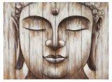 Accueil peint main décoratifs Bouddha Huile sur toile abstraite