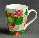 Tasse de lait de café de couleur blanche et verte de grès de bonne qualité