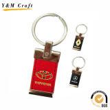 PU-lederner Schlüsselring mit kundenspezifischem Firmenzeichen (Y03199)