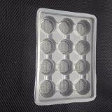 Envase de plástico claro de los PP para sostener 12 mini magdalenas o la albóndiga
