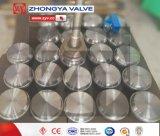Válvula de puerta industrial del borde del acero de molde de ASTM 150lb Wcb