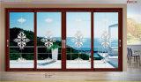 Combine di alluminio del portello scorrevole di vetro Tempered con la finestra di scivolamento