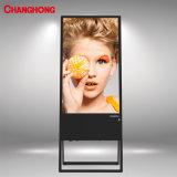 43 ZollSp1000 (b) beweglicher Digital Signage LCD-Bildschirmanzeige-Fahnen-Standplatz