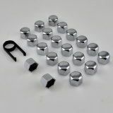 20 + 1PCS ABS Plastic Hex Wheel Bolt Topper Caps Set