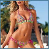 Женщин спорта шеи дешевого лета Swimsuit Бикини способа высоких