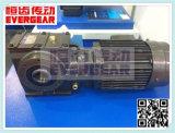 Reductor de velocidad montado pie del engranaje de gusano del arrabio de la serie S