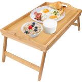Прочная конструкция лотка для завтрака с помощью рукоятки и складные ноги