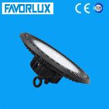 Gran cantidad de lúmenes LED UFO impermeable alto de la luz de la bahía de 150W.