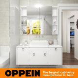 Cabina blanca de la vanidad del cuarto de baño de la laca del alto lustre moderno (OP16-Villa01BV2)