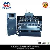 Мебель движения таблицы высекая роторный деревянный маршрутизатор CNC маршрутизатора (VCT-TM2515FR-8H)