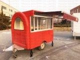 BBQ van de Goedkeuring van Ce Aanhangwagen van de Keuken van het Voedsel van de Roker de Mobiele