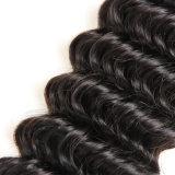 Venda por grosso 10grau profundo brasileiro virgem da onda de cabelo humano da trama