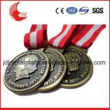 Medaglia d'ottone del metallo di placcatura dell'argento su ordinazione promozionale dell'oro