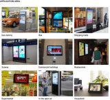 55 pulgadas LCD de pantallas digitales al aire libre Displayer Publicidad
