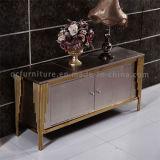 2016現代ブラシをかけられたローズの金ステンレス鋼フレームのコンソールテーブル