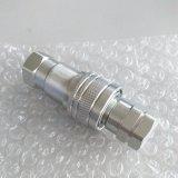 La macchina della costruzione dell'escavatore parte l'accoppiamento rapido idraulico del connettore del tubo con la valvola a fungo