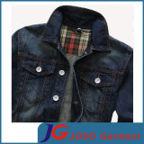 Slim Frosted Breathable Men Cotton Denim Jacket (JC7049)のヨーロッパのVersion