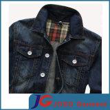 Version europeu de Cotton magro Denim Jacket de Frosted Breathable Men (JC7049)
