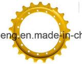 Pignon de machinerie de construction, les segments de la Pelle Bulldozer de pièces de châssis porteur