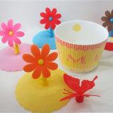 Soft 3D de calor resistente a la cubierta de silicona de la taza por taza