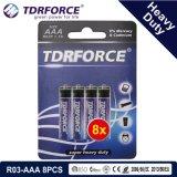 1.5V中国の工場亜鉛カーボン電池の卸売価格(R03-AA 8PCS)