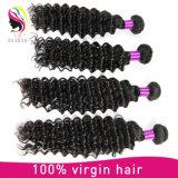 7A extensão Mongolian do cabelo humano do Virgin da onda da classe 100% profundamente