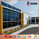Panneau de mur en aluminium de façade Feve d'enduit jaune à haute brillance d'Ideabond