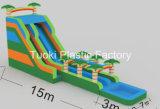 15m Regenbogen-Palme-aufblasbare Wasser-Plättchen-Pools
