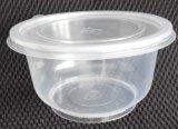 Großhandels16oz 450ml Wegwerf-pp. Plastiknahrungsmittelbehälter mit Kappe und Firmenzeichen