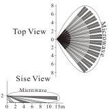 Rivelatore di movimento infrarosso & doppio doppio esterno di microonda PIR